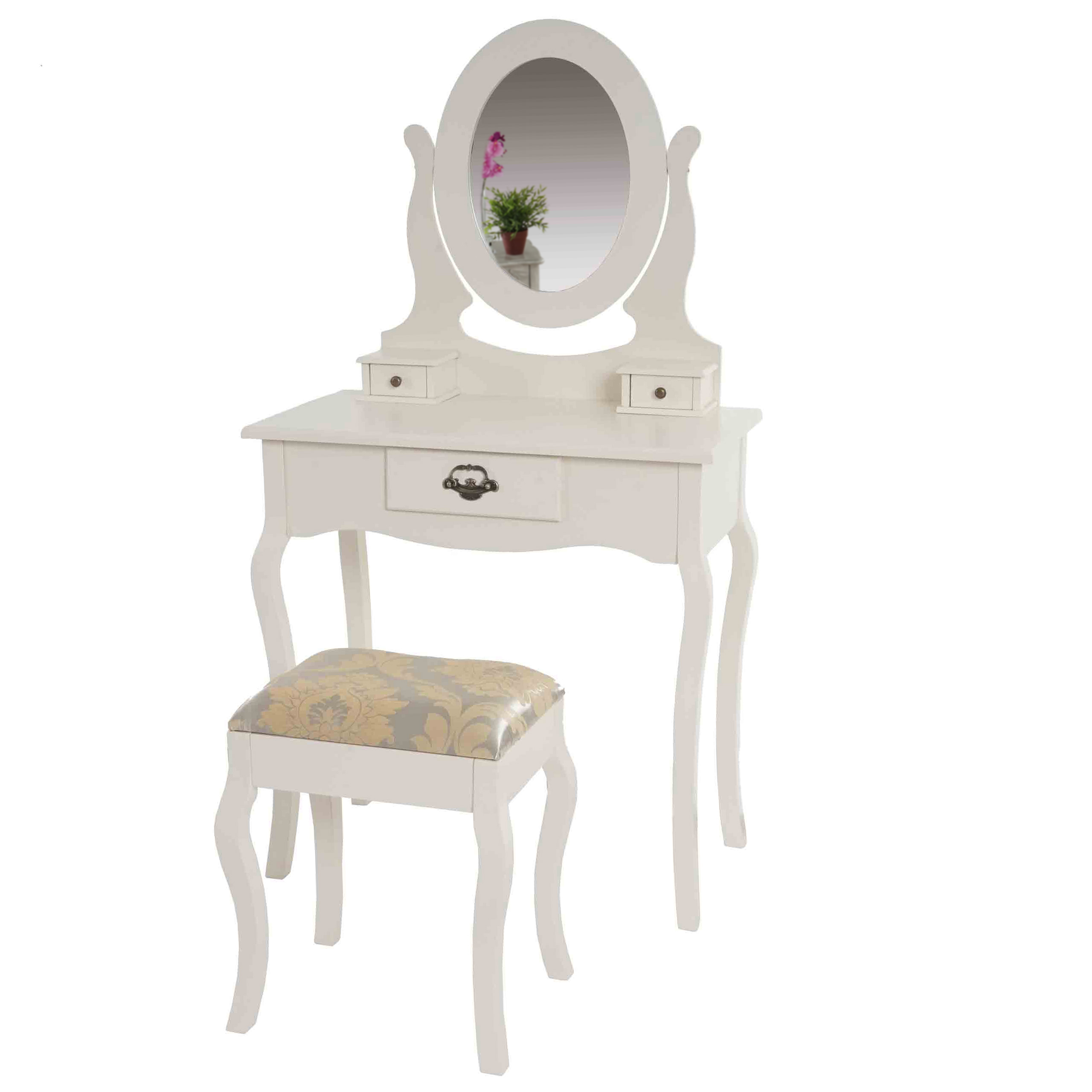 schminktisch valence h433 frisiertisch mit hocker barock antik creme 4057651083742 ebay. Black Bedroom Furniture Sets. Home Design Ideas