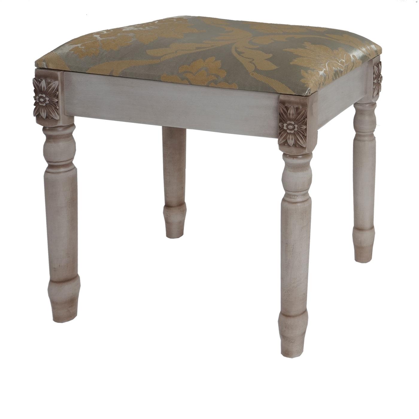 table de maquillage gela t434 table avec tabouret 140x77x42cm blanc antique ebay. Black Bedroom Furniture Sets. Home Design Ideas