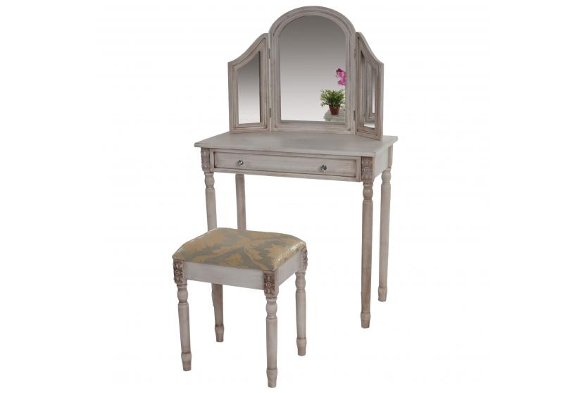 schminktisch gela t434 frisiertisch mit hocker. Black Bedroom Furniture Sets. Home Design Ideas