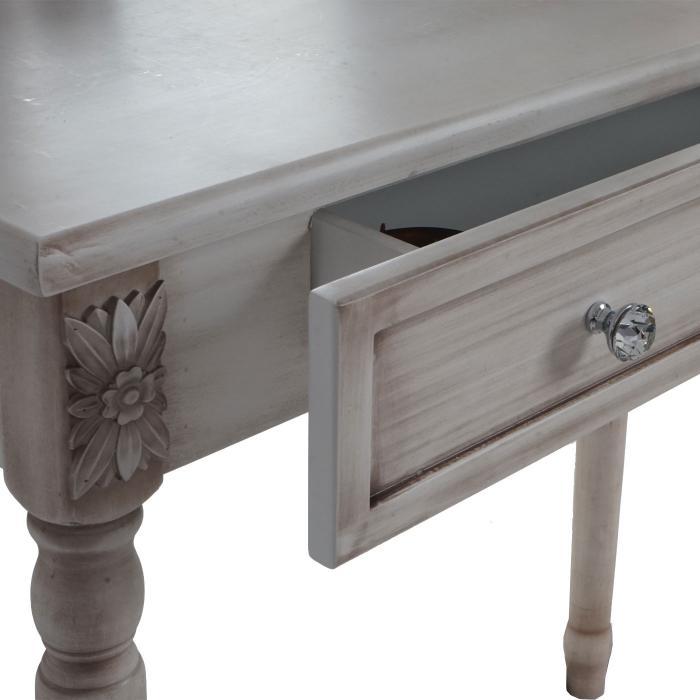 schminktisch gela t434 frisiertisch mit hocker kosmetiktisch barock antik 140x77x42cm antik wei. Black Bedroom Furniture Sets. Home Design Ideas