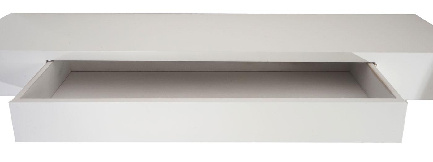 Cher, Hängeregal Regal, 80cm Schublade ~ weiß