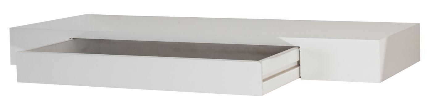 wandregal oise h ngeregal regal 80cm schublade wei. Black Bedroom Furniture Sets. Home Design Ideas