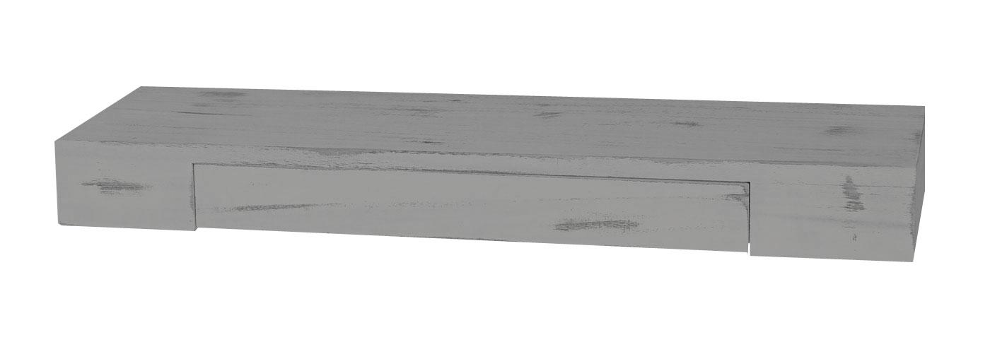 Wandregal mit schublade grau  Cher, Hängeregal Regal, 80cm Schublade ~ grau, shabby