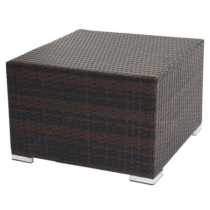 poly rattan sofa garnitur rom basic sitzgruppe lounge set alu braun meliert kissen creme. Black Bedroom Furniture Sets. Home Design Ideas