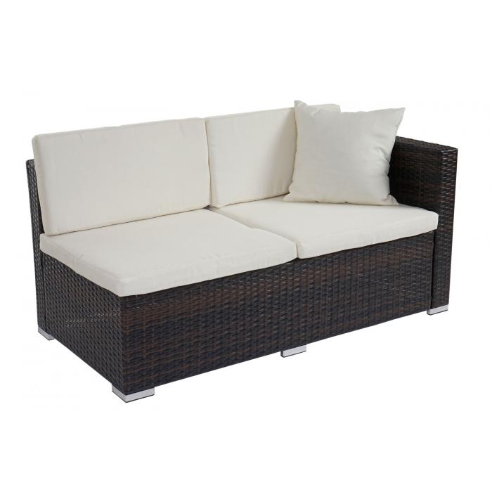 Poly Rattan Sofa Garnitur Rom Basic Sitzgruppe Lounge Set Alu