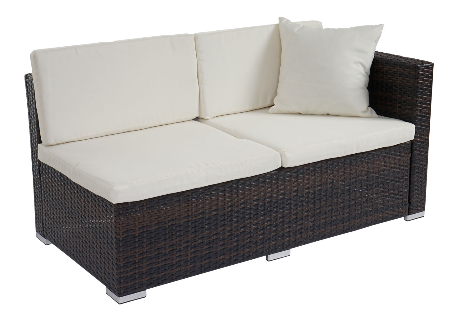 Poly rattan sofa garnitur rom basic sitzgruppe lounge set for Sofa garnitur