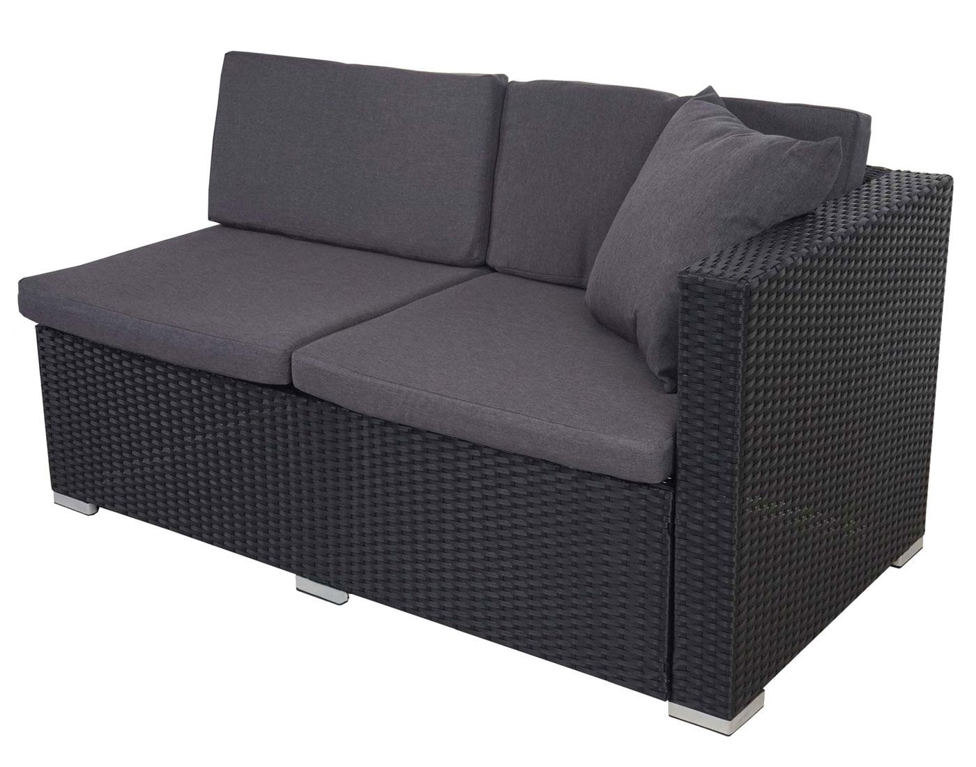poly rattan sofa garnitur sitzgruppe lounge set alu anthrazit kissen anthrazit garten. Black Bedroom Furniture Sets. Home Design Ideas