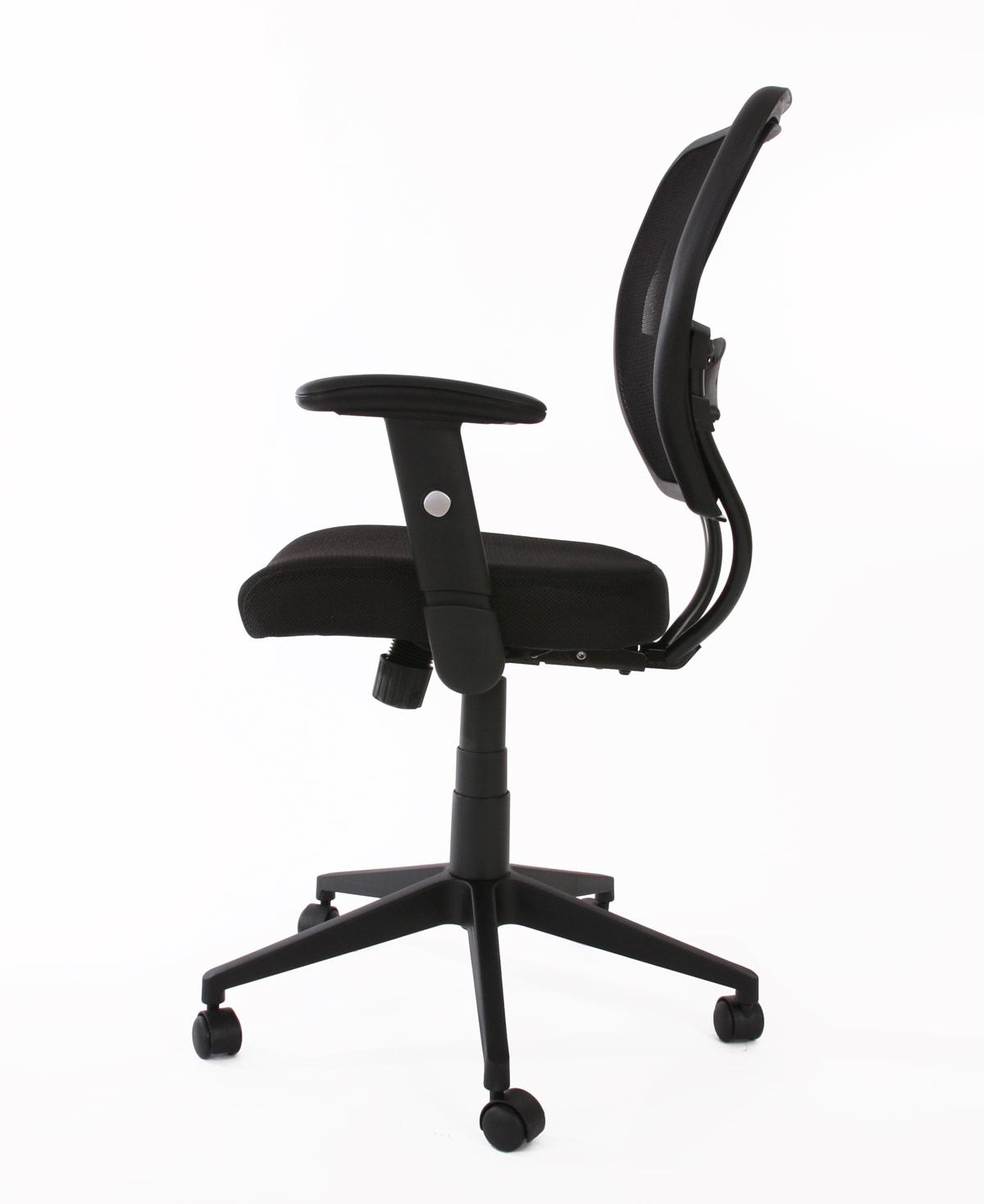 fauteuil chaise de bureau seattle charge 150kg tissu noir. Black Bedroom Furniture Sets. Home Design Ideas
