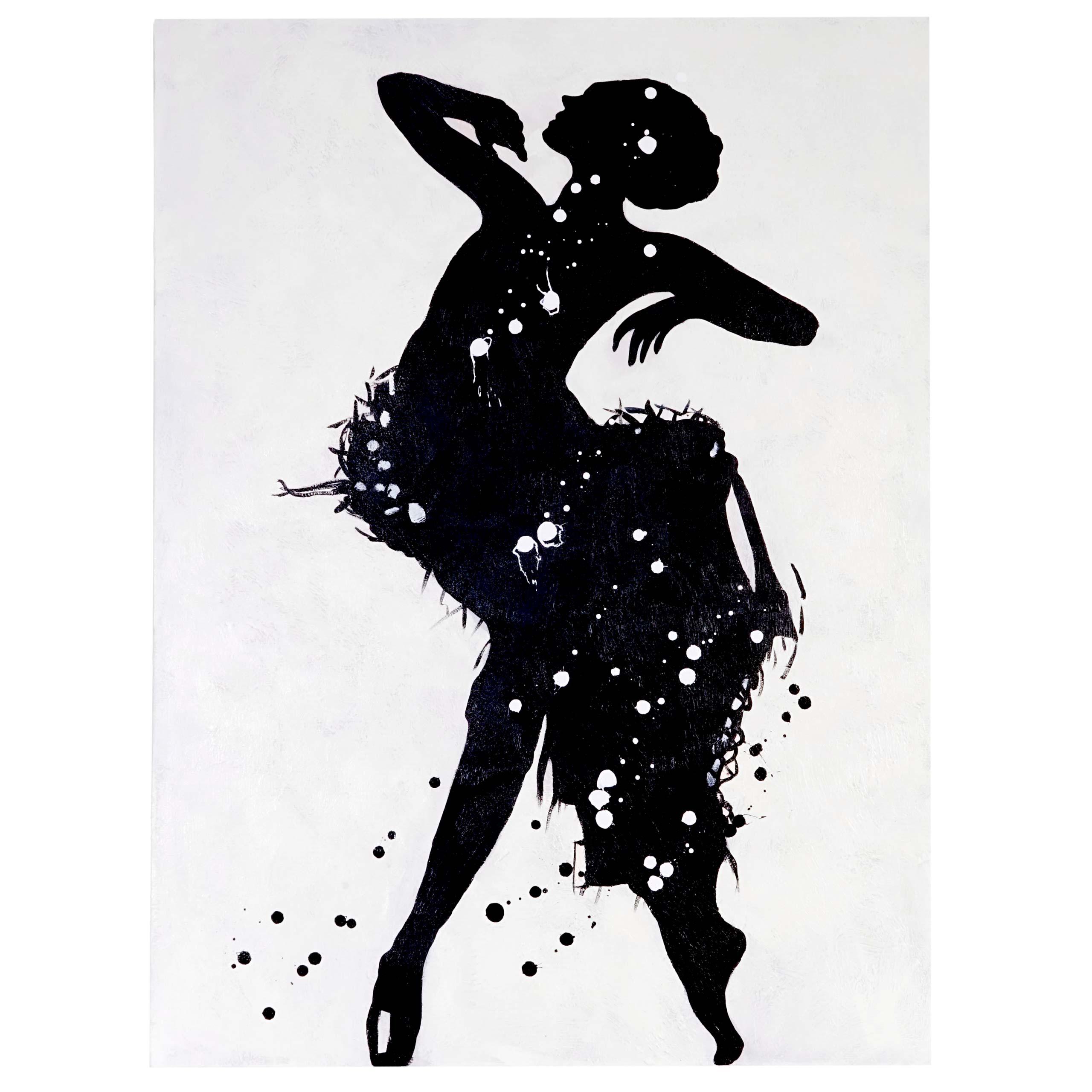 Mendler Ölgemälde Tänzerin, 100% handgemaltes Wandbild Gemälde XL, 120x90cm ~ Variantenangebot 44721