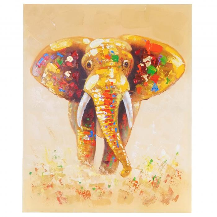 lgem lde elefant 100 handgemaltes wandbild gem lde xl. Black Bedroom Furniture Sets. Home Design Ideas