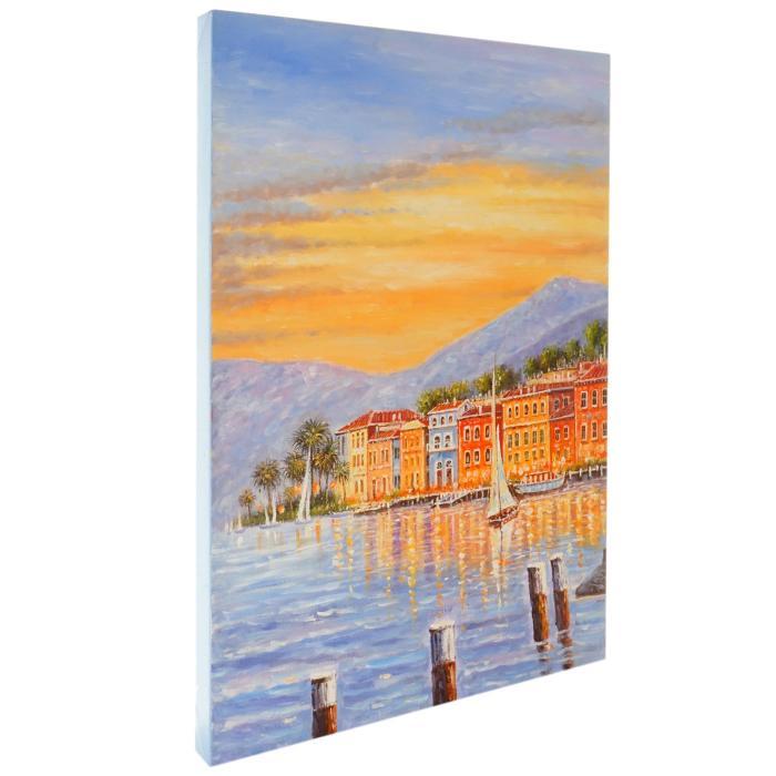 Ölgemälde Küste, 100 | handgemaltes Wandbild Gemälde XL, 70x50cm