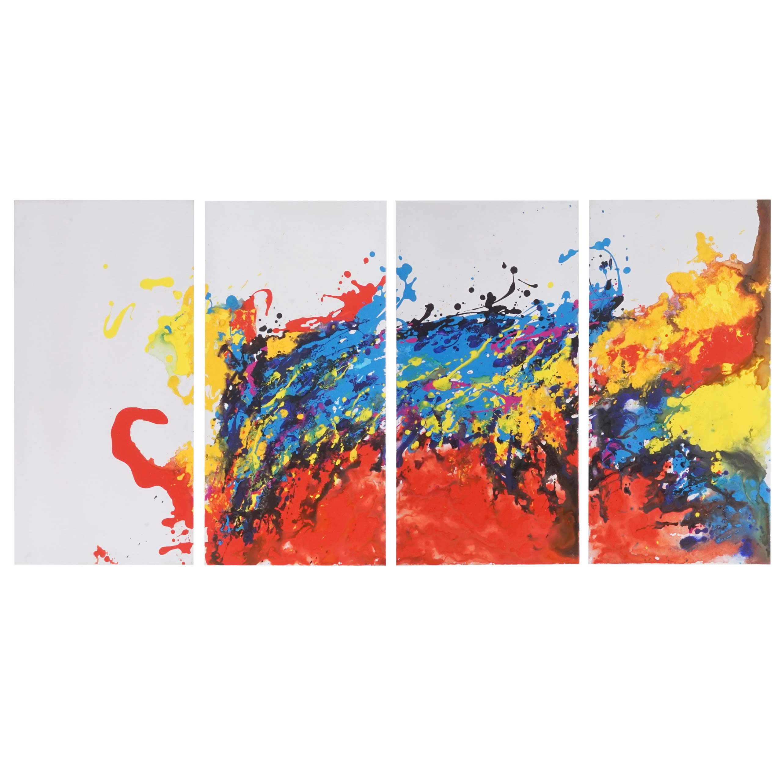 Mendler Ölgemälde Wave, 100% handgemaltes Wandbild Gemälde XL, 120x60cm ~ Variantenangebot 44766