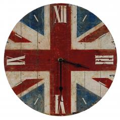 Uhr Wanduhr Quartzuhr Analog ~ Union Jack