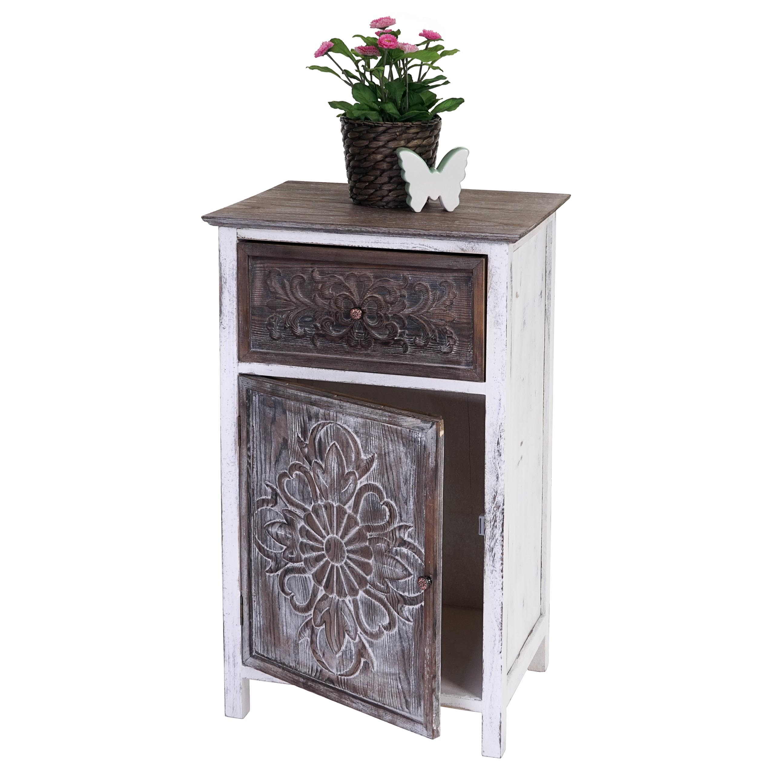 kommode galway schubladenkommode schrank shabby look vintage 75x45x34cm. Black Bedroom Furniture Sets. Home Design Ideas