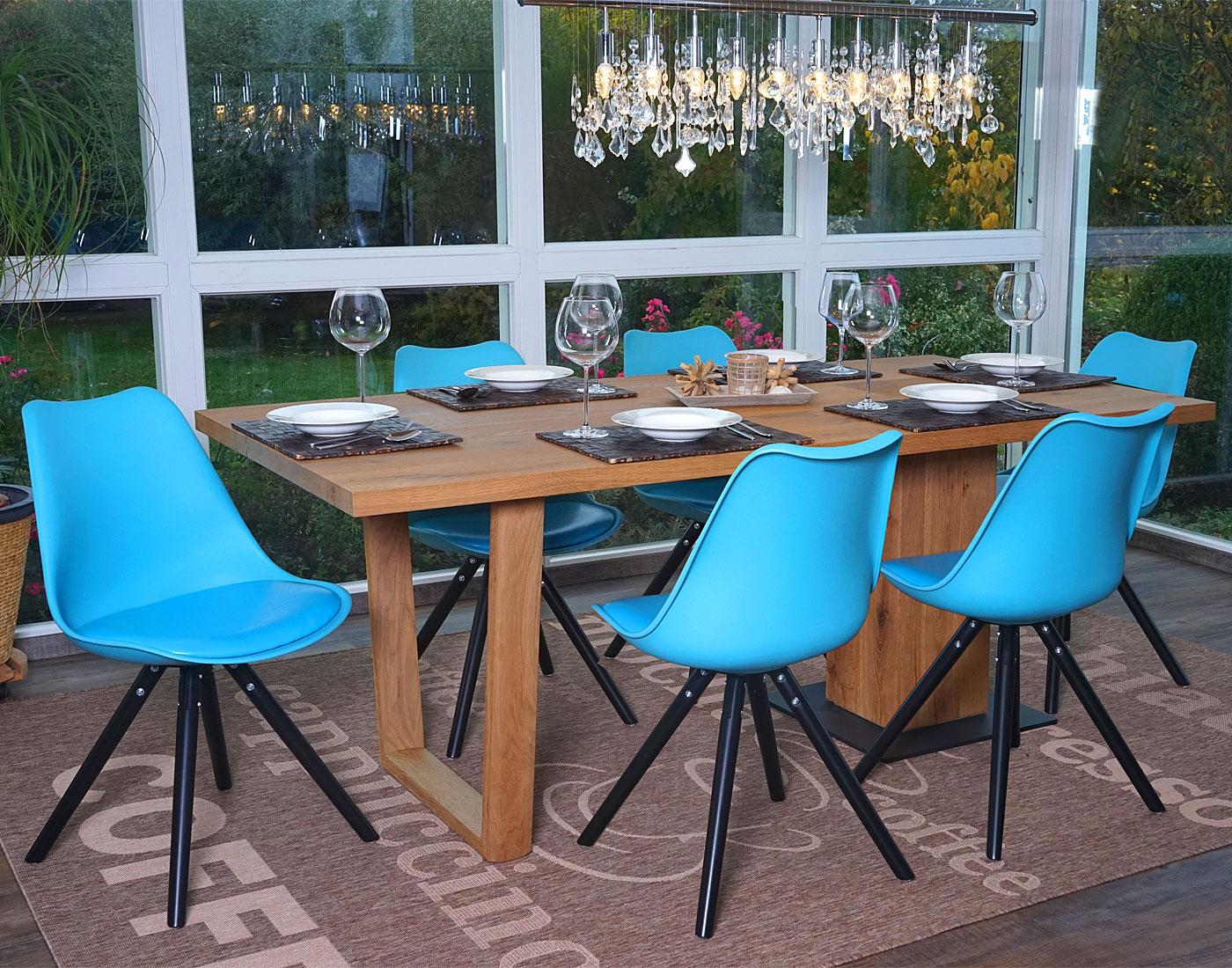 Serie malmoe set 6x sedie sala da pranzo t501 legno for Sedie sala pranzo legno