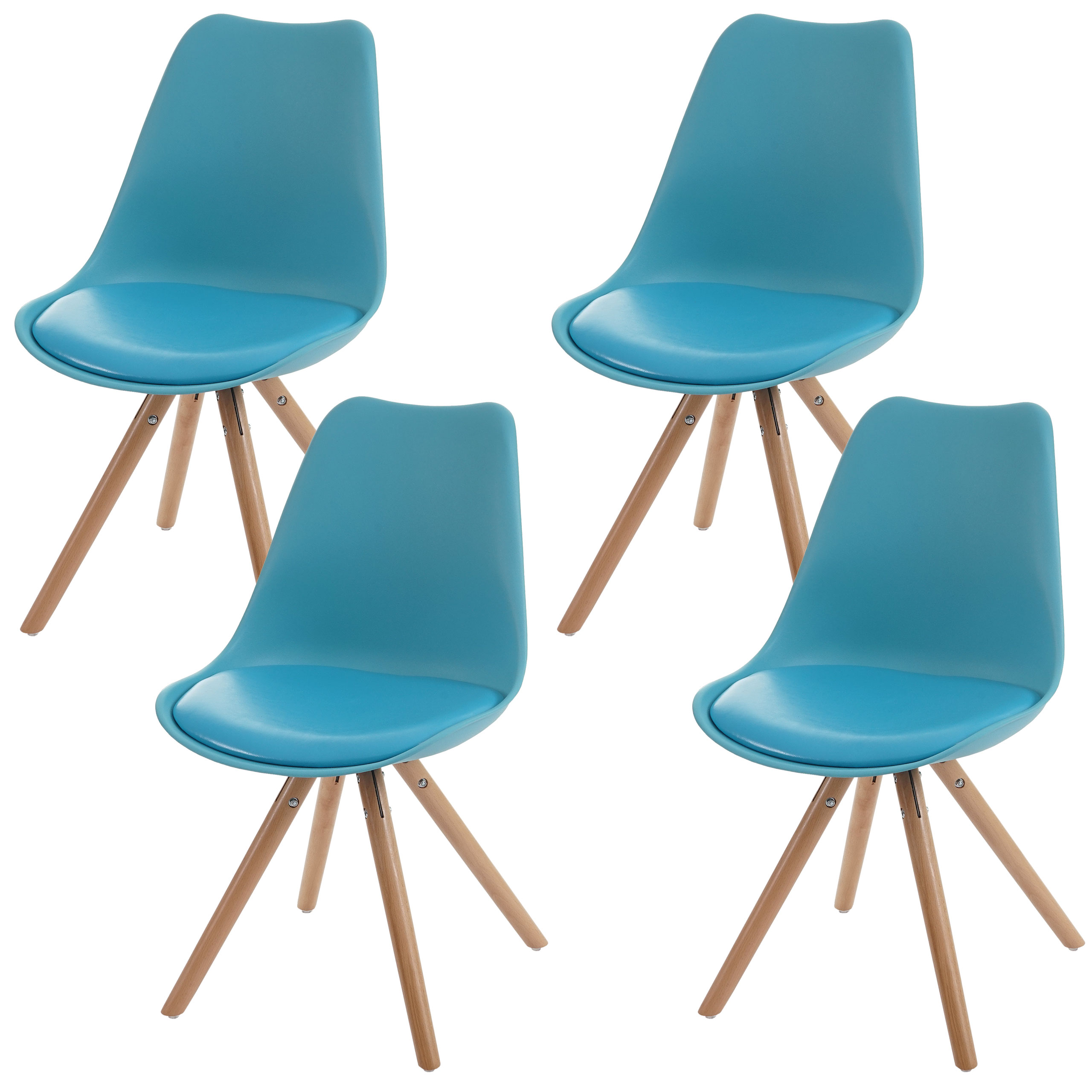 4x esszimmerstuhl malm t501 retro design t rkis. Black Bedroom Furniture Sets. Home Design Ideas