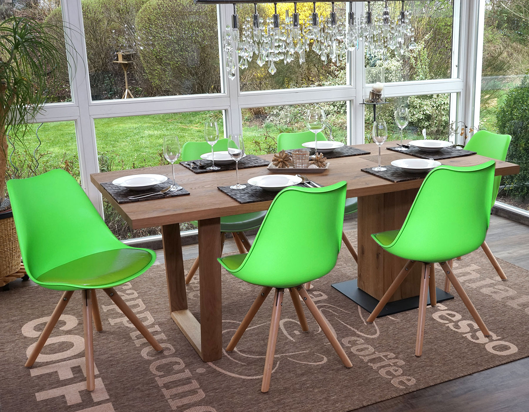 Serie malmoe set 6x sedie sala da pranzo t501 legno massiccio ebay - Sedie sala da pranzo ...