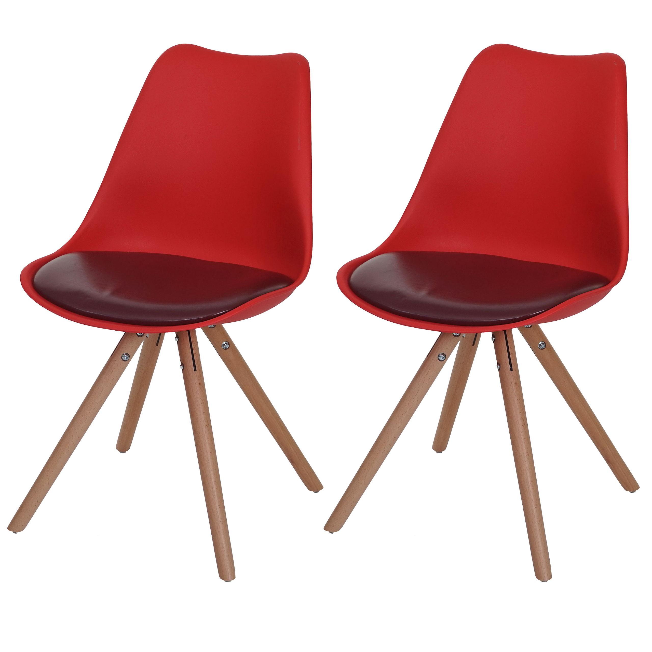 2x esszimmerstuhl malm t501 retro design rot. Black Bedroom Furniture Sets. Home Design Ideas