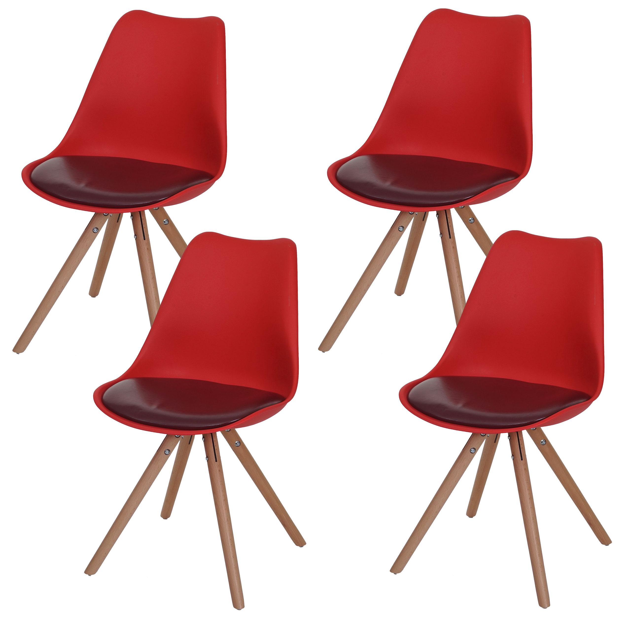 Serie malmoe set 4x sedie sala da pranzo t501 legno for Sedie sala pranzo legno