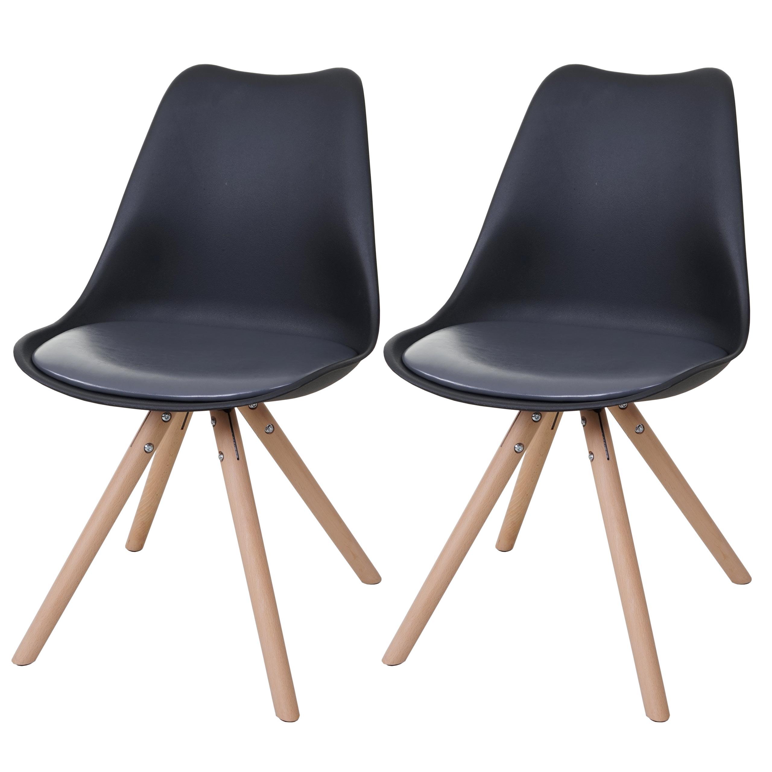 Serie malmoe set 2x sedie sala da pranzo t501 legno for Sedie sala pranzo legno