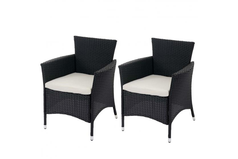 2x poly rattan gartensessel rom basic korbsessel. Black Bedroom Furniture Sets. Home Design Ideas