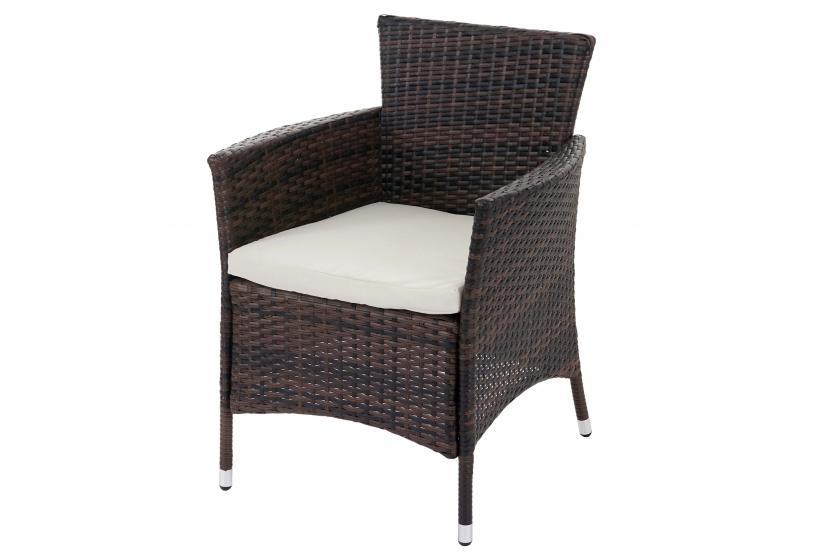 2x poly rattan gartensessel rom basic korbsessel braun. Black Bedroom Furniture Sets. Home Design Ideas