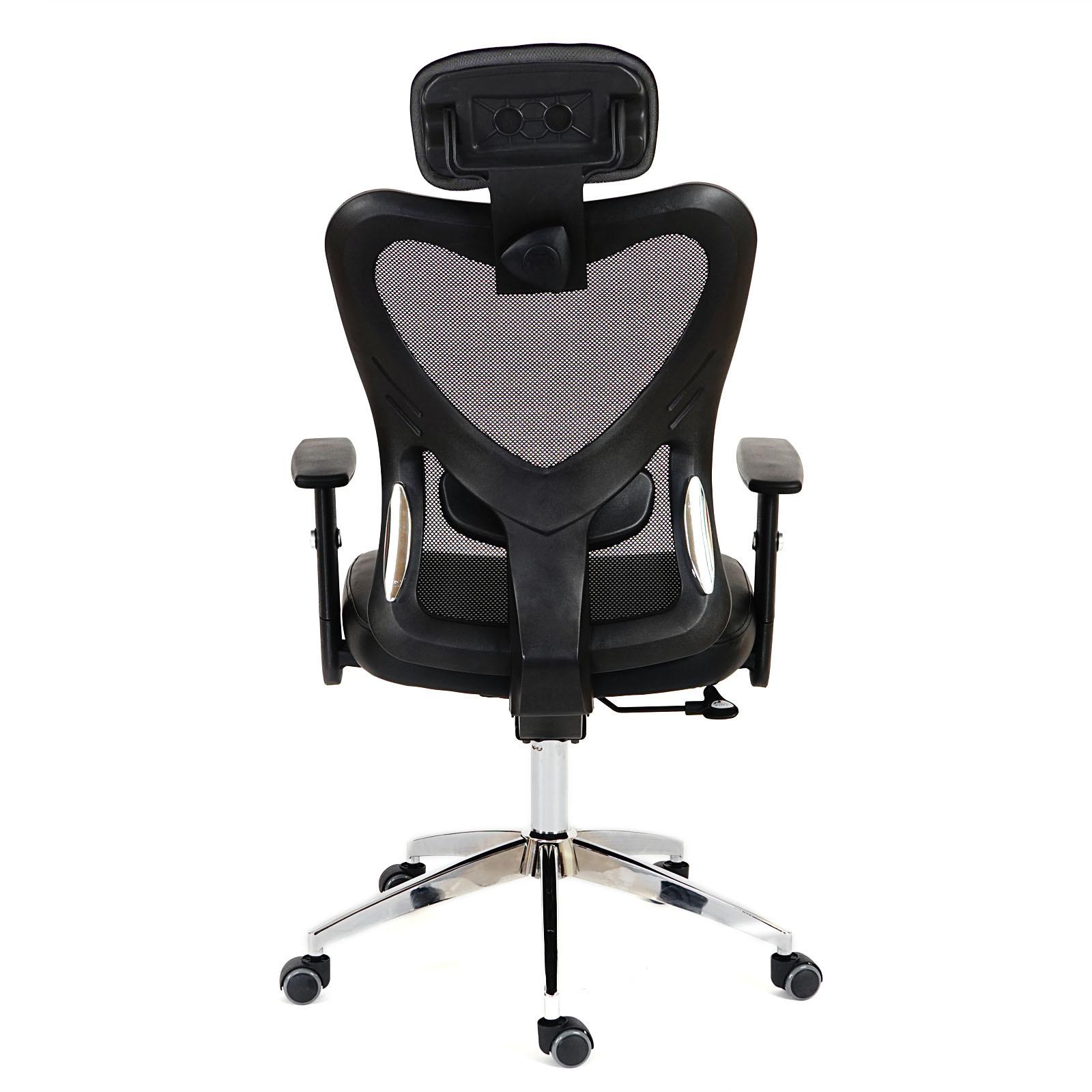 fauteuil de bureau am ricain atlanta xxl charge 150kg similicuir gris ebay. Black Bedroom Furniture Sets. Home Design Ideas