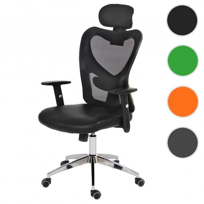 Profi-Bürostuhl Atlanta Kunstleder orange Chefsessel Schreibtischstuhl