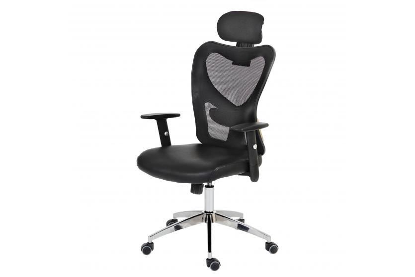 profi b rostuhl pamplona xxl drehstuhl 150kg belastbar kunstleder grau ebay. Black Bedroom Furniture Sets. Home Design Ideas