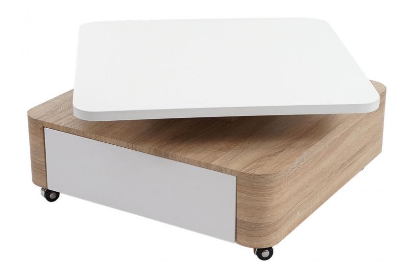 couchtisch sibiu wohnzimmertisch hochglanz drehbar. Black Bedroom Furniture Sets. Home Design Ideas
