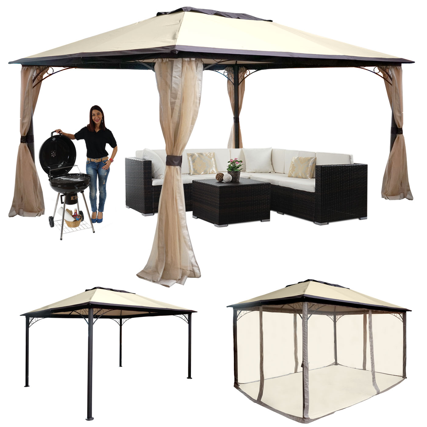 pergola mcw c42 garten pavillon stabiles 6cm gestell schiebedach 3 5x3 5m creme. Black Bedroom Furniture Sets. Home Design Ideas