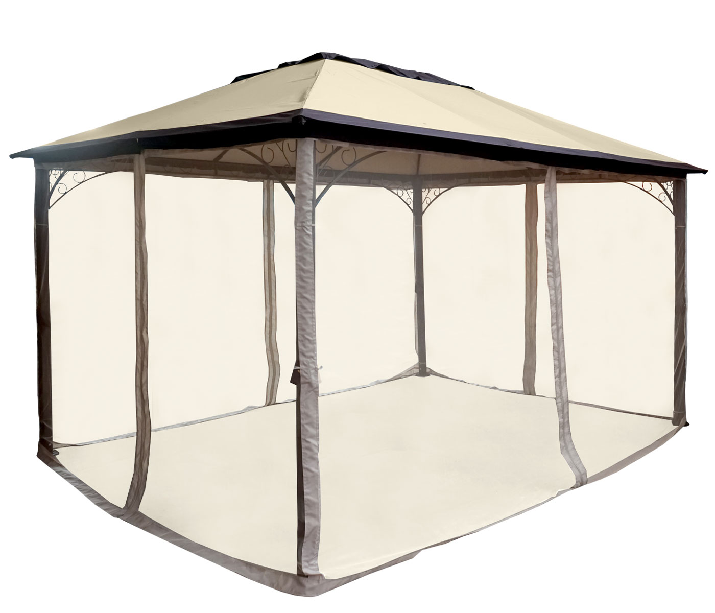 Pergola MCW-C44, Garten Pavillon, stabiles 7cm Alu-Gestell mit ...