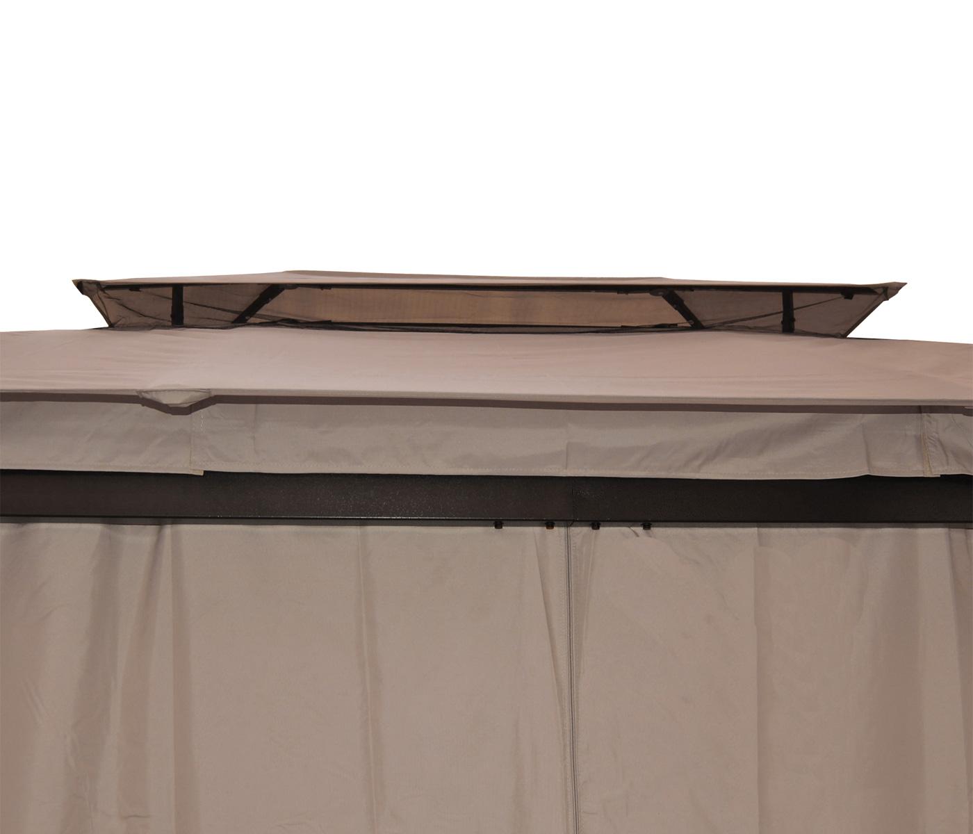 pergola mira pavillon de jardin cadre 12cm paroi et moustiquaire 4 5x3 5m ebay. Black Bedroom Furniture Sets. Home Design Ideas