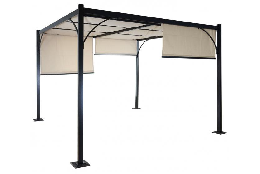 pavillon ausziehbar simple pergola granada garten pavillon stabiles schiebedach xm with. Black Bedroom Furniture Sets. Home Design Ideas