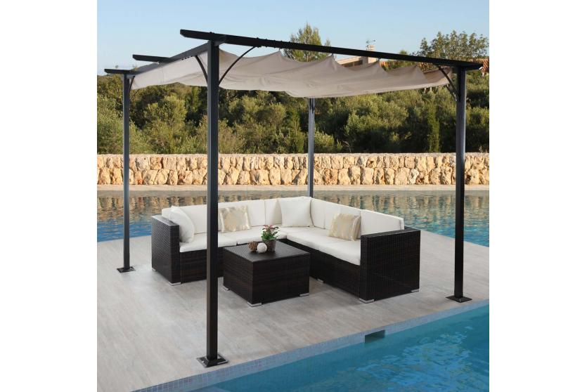 pergola hwc c42 garten pavillon stabiles 6cm gestell. Black Bedroom Furniture Sets. Home Design Ideas