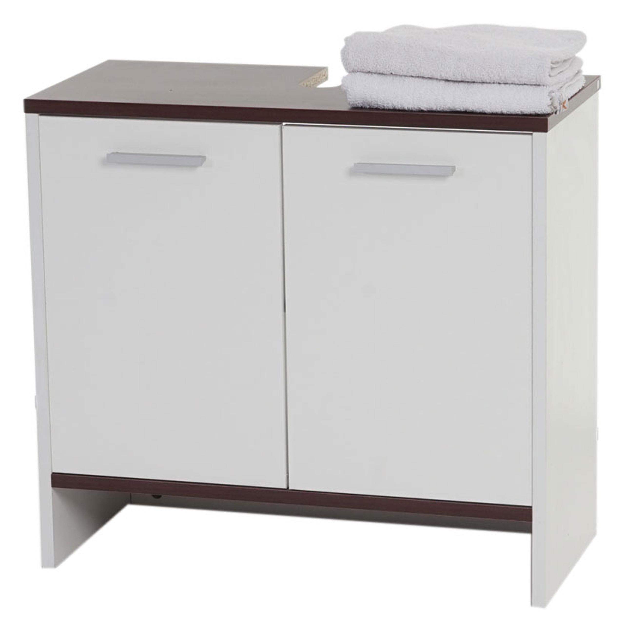 Arredo bagno serie arezzo sottolavabo 56x60x28cm legno for Arredo bagno bianco
