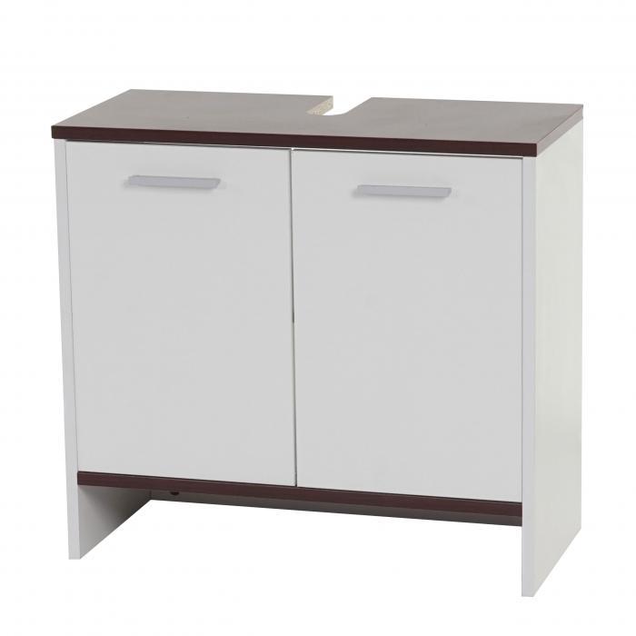 waschbeckenunterschrank arezzo badschrank 56x60x28cm wei b den braun. Black Bedroom Furniture Sets. Home Design Ideas