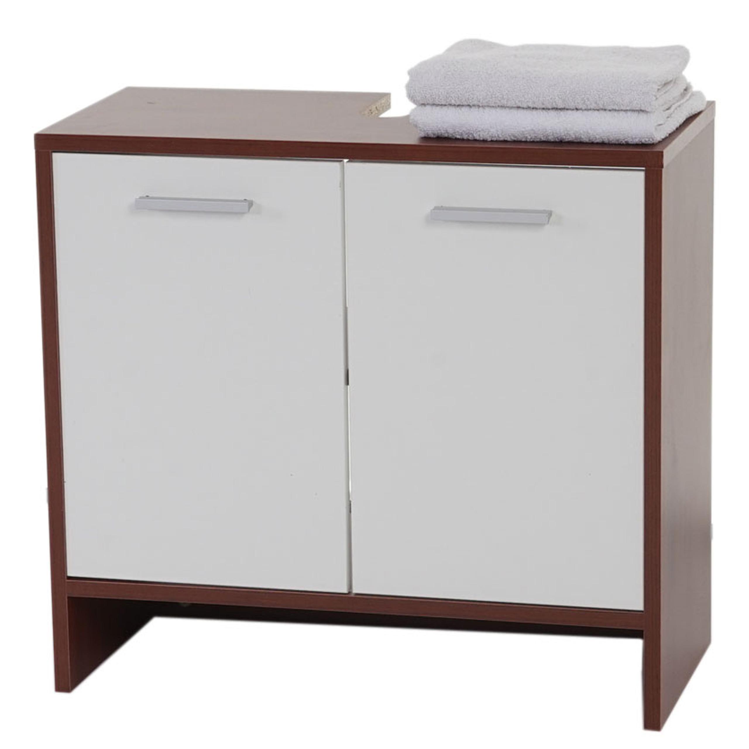 Verschiedene Badschrank Weiß Ideen Von Waschbeckenunterschrank Arezzo, Badschrank, 56x60x28cm ~ Braun, Türen