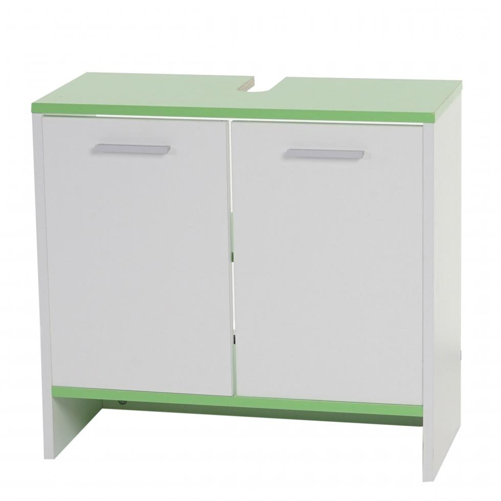 waschbeckenunterschrank lucca badschrank 56x60x28cm wei b den gr n ebay. Black Bedroom Furniture Sets. Home Design Ideas