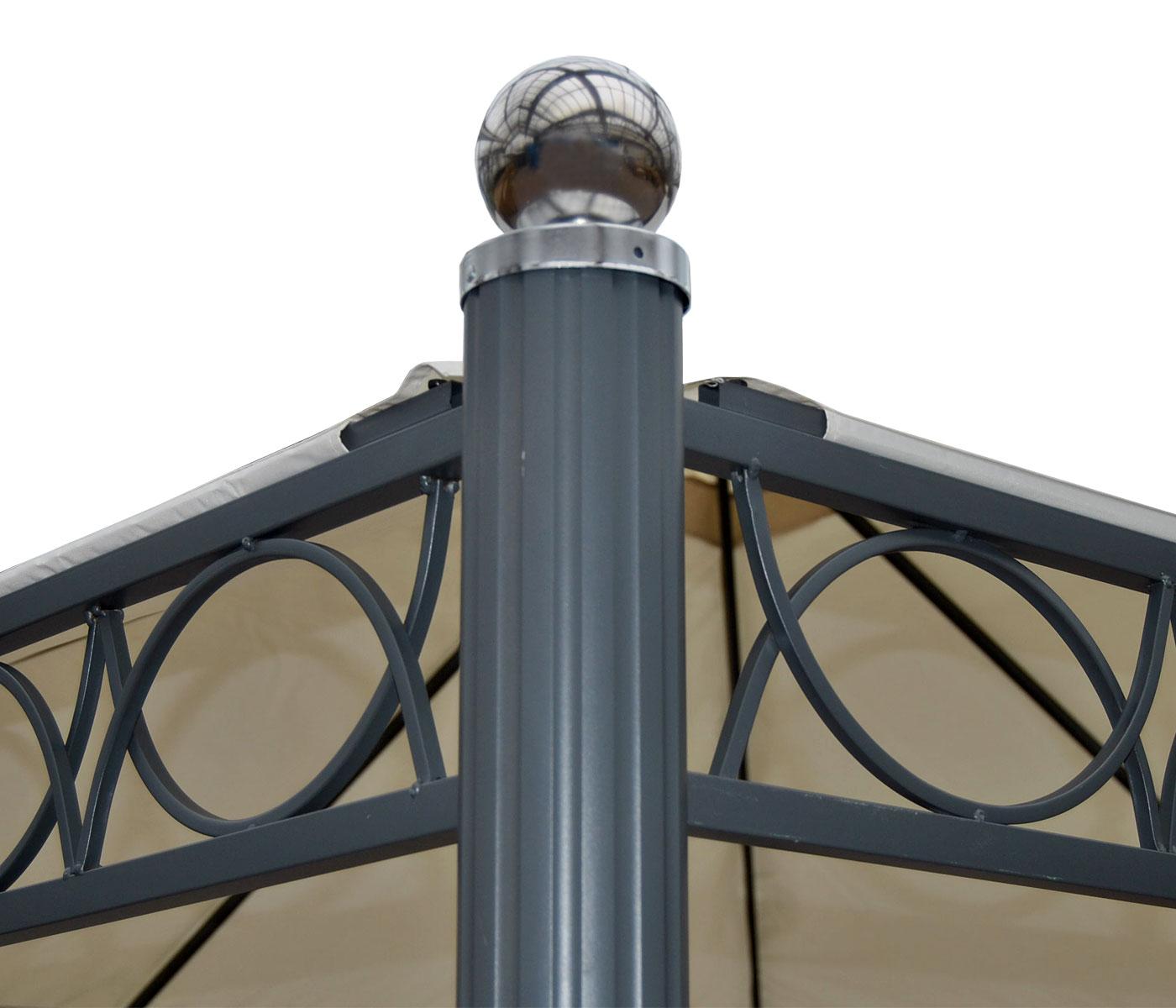 pergola belagua, garten pavillon, stabiles 10cm luxus-alu-gestell, Badezimmer ideen