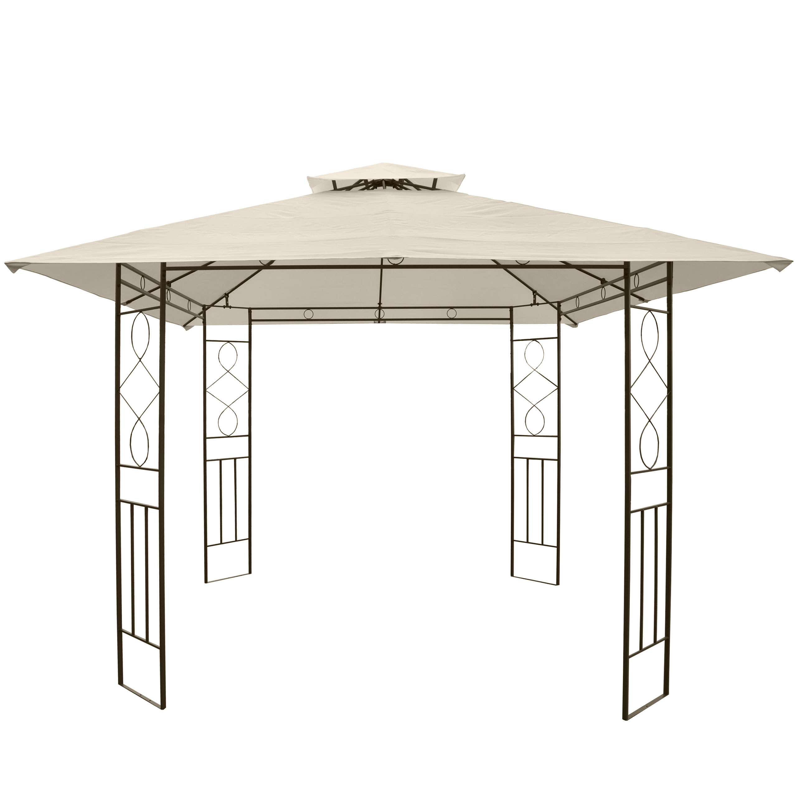 pergola montilla garten pavillon stabiles stahl gestell 3x3m ebay. Black Bedroom Furniture Sets. Home Design Ideas
