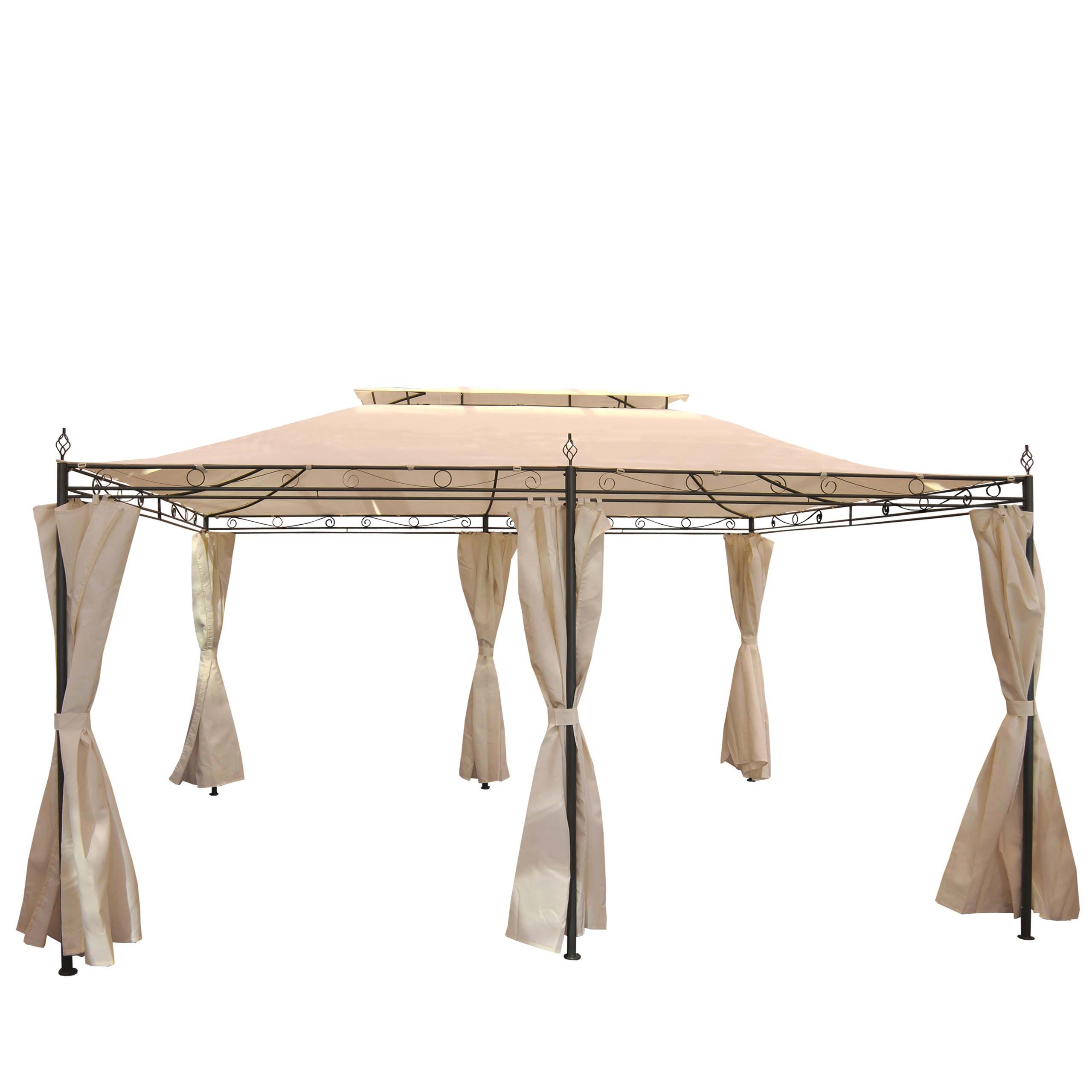 pergola mecina garten pavillon 4cm stahl gestell mit. Black Bedroom Furniture Sets. Home Design Ideas