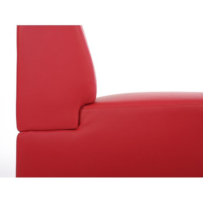 2-sitzer sofa couch lyon, kunstleder ~ rot, ohne armlehnen, Hause deko