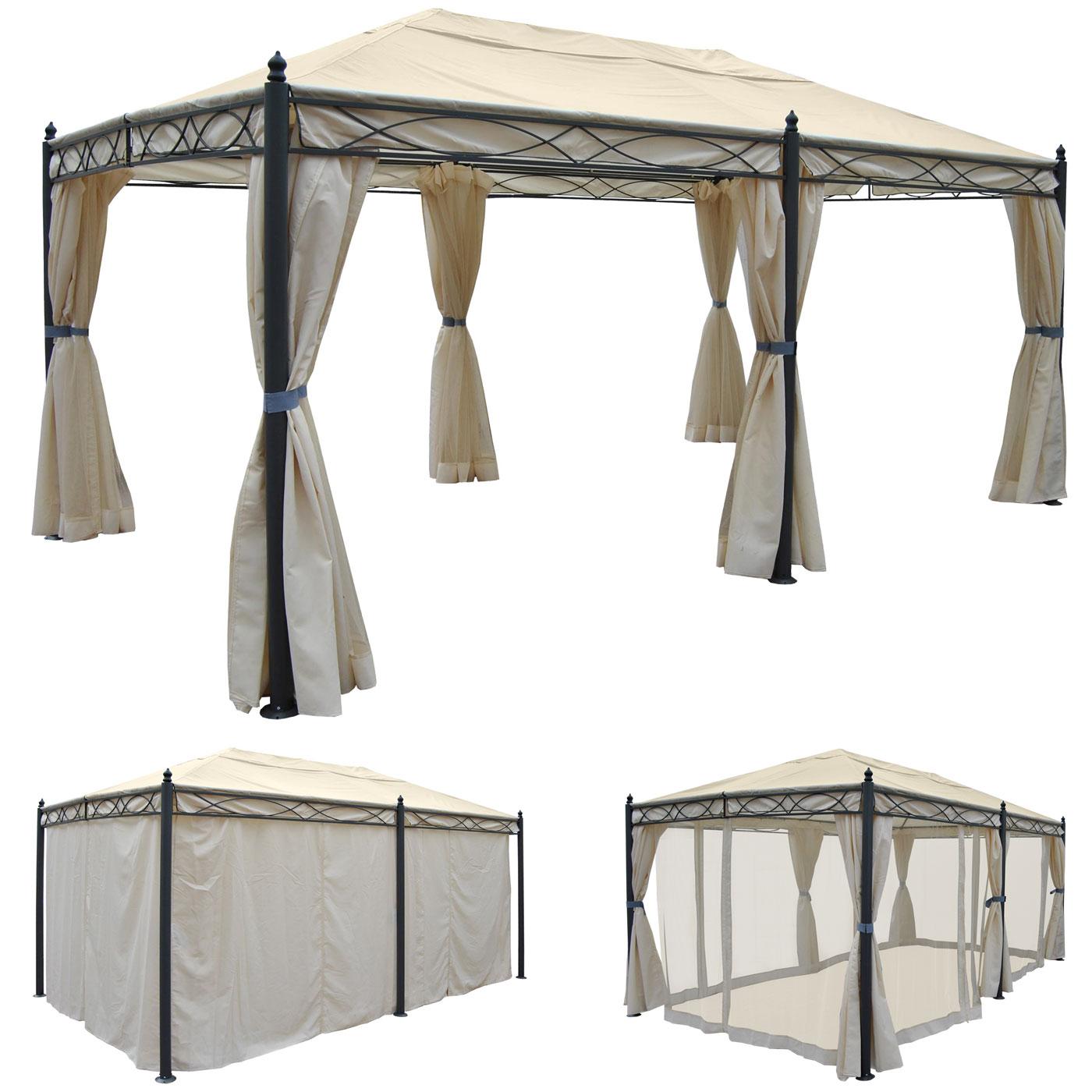 pavillon 3 5x3 5 wasserdicht luxus pavillon gartenzelt. Black Bedroom Furniture Sets. Home Design Ideas