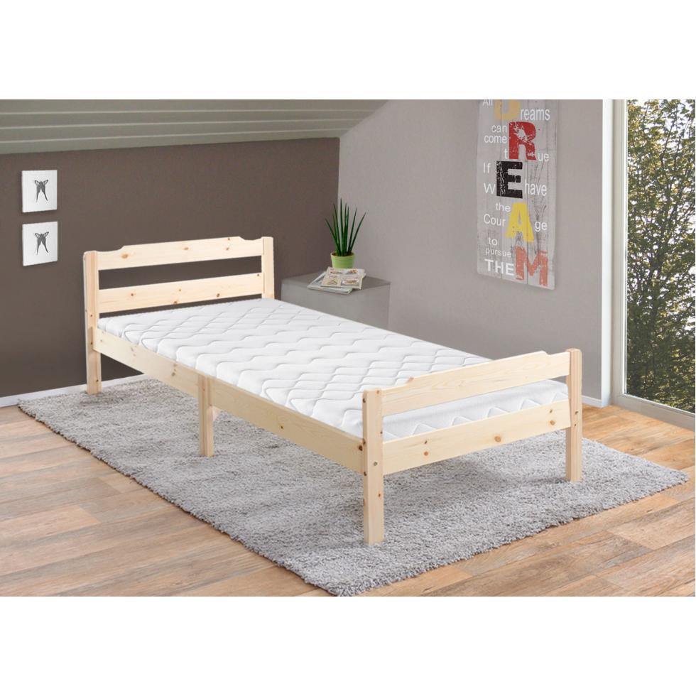 bett perth jugendbett kiefer incl lattenrost 90x200cm natur lackiert 4057651106632 ebay. Black Bedroom Furniture Sets. Home Design Ideas