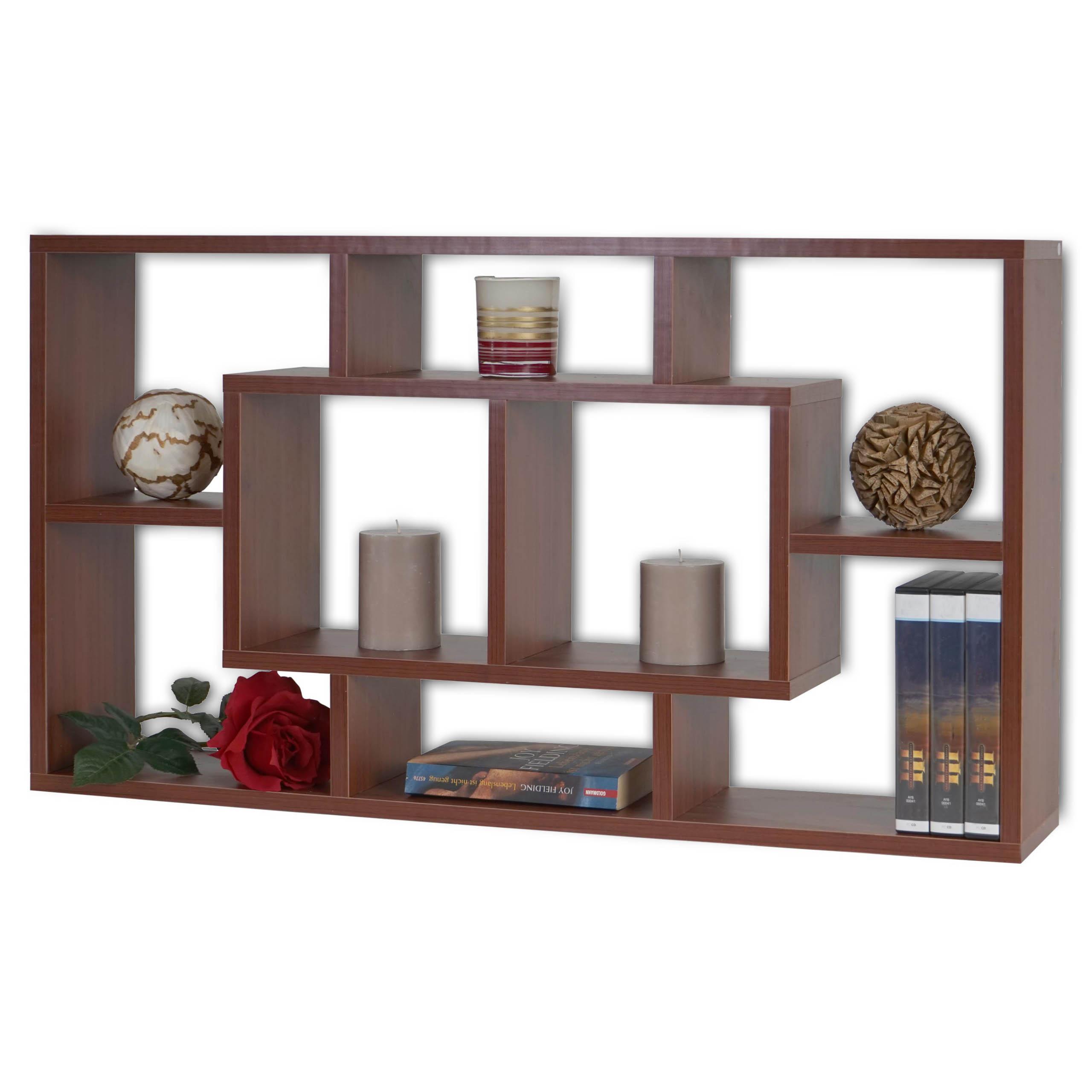 wandregal nyon t521 h ngeregal b cherregal 48x85x16cm. Black Bedroom Furniture Sets. Home Design Ideas