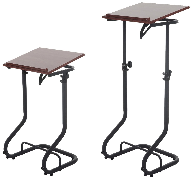 pupitre pour ordinateur portable bakersfield desserte pivotante aspect noix ebay. Black Bedroom Furniture Sets. Home Design Ideas