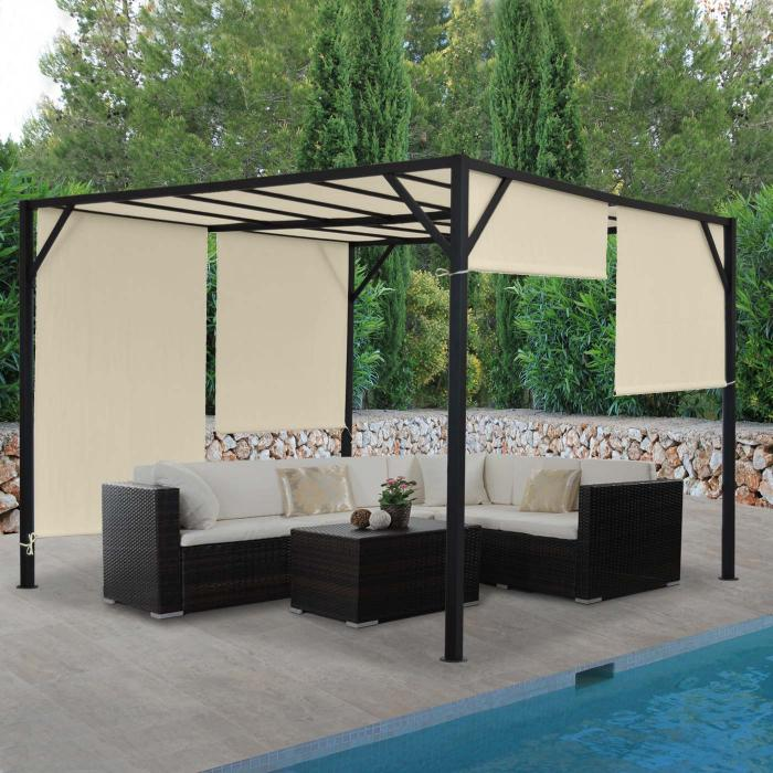 pergola baia garten pavillon terrassen berdachung. Black Bedroom Furniture Sets. Home Design Ideas