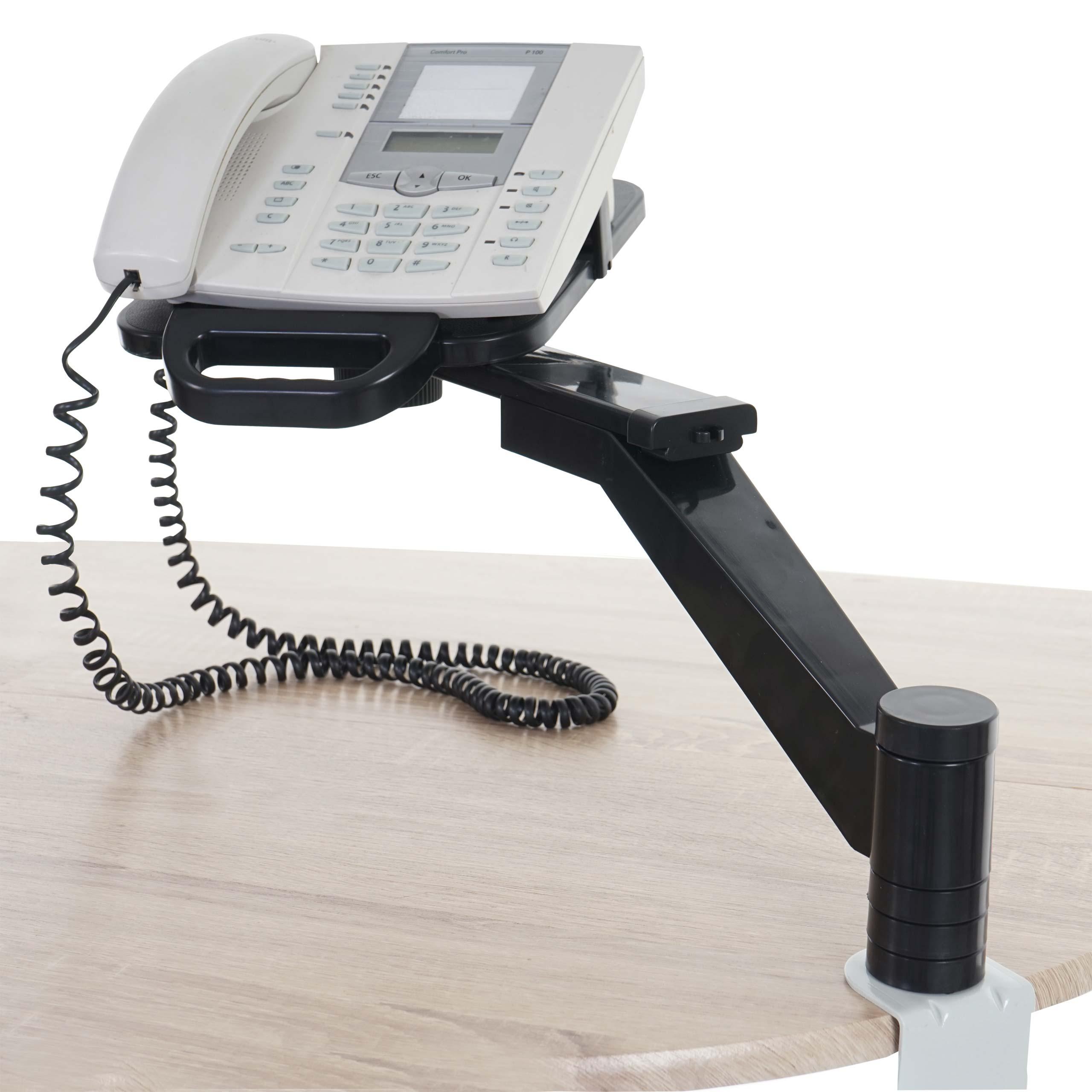 Mendler Telefonarm T555, Telefonhalter Telefonschwenkarm Tischhalterung ~ Variantenangebot 45689