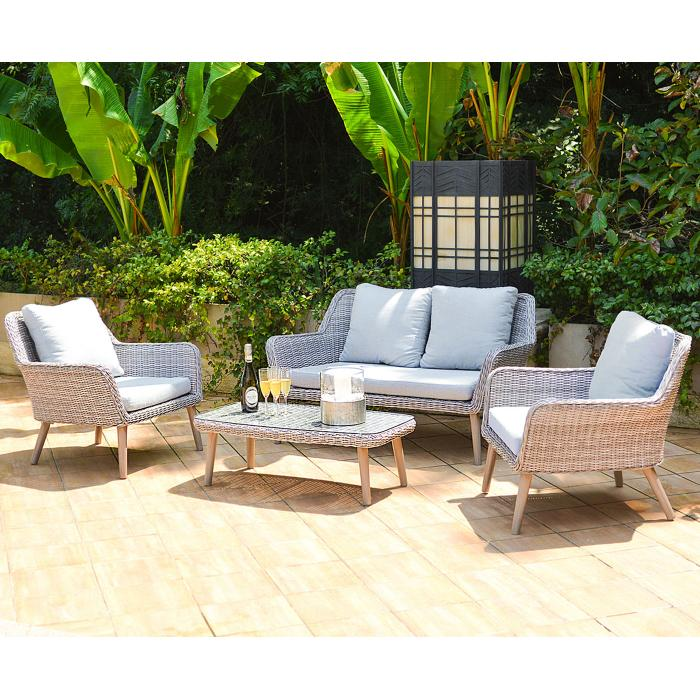 Luxus poly rattan garnitur bilbao premium lounge set for Lounge set rattan gunstig